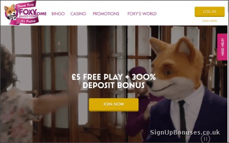 £90 Foxy Bingo welcome bonus