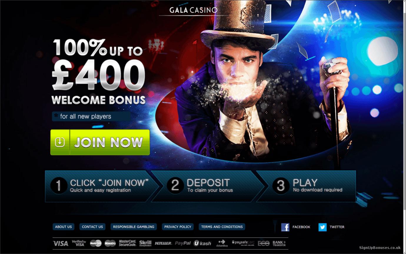 bonus code gala casino poker