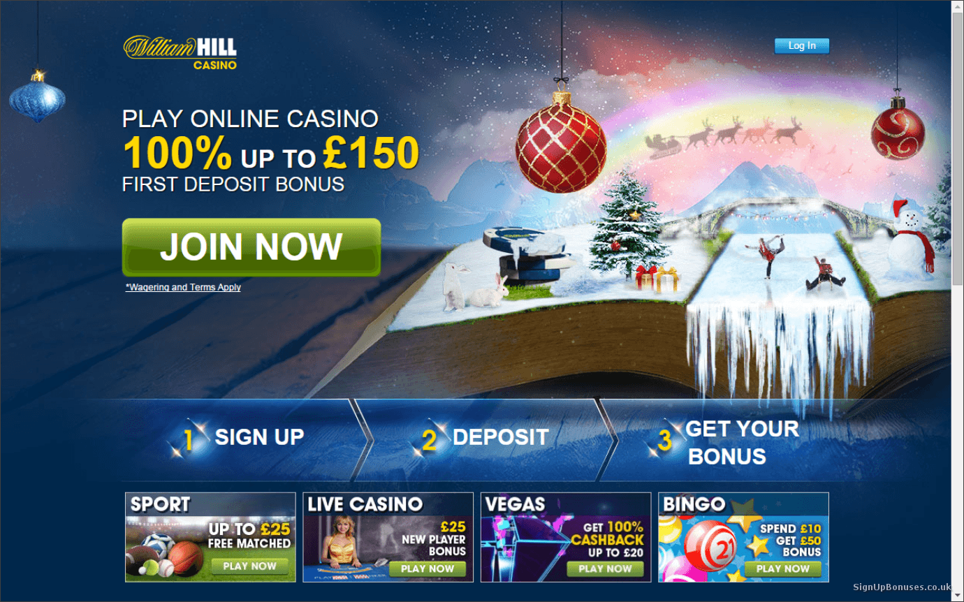 william hill casino bonus code no deposit
