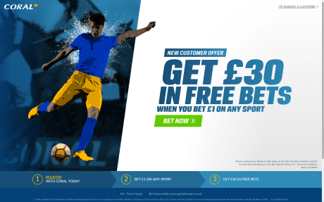 Coral £30 Free Bet Screenshot