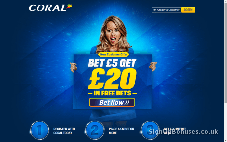 Coral £20 Free Bet Screenshot