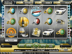 Screenshot of the Mega Fortune Slots game