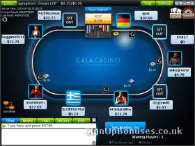Screen capture of an in progress poker game