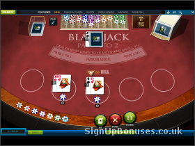 Blackjack Game Screenshot