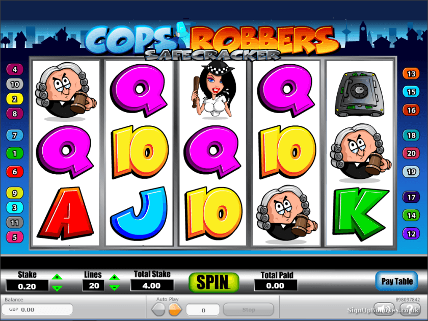 online casino signup bonus cops and robbers slot