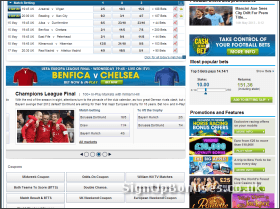 Footbal Betting Selection Screenshot