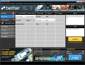 Screenshot of the quick selection interface