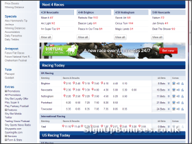 Screenshot of the Horse Racing Markets