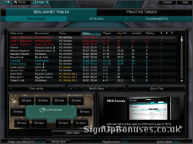 Screenshot of the interface used to join a table