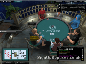 Screenshot of the PKR table interface