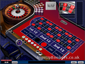 Screenshot of an in progress roulette wheel
