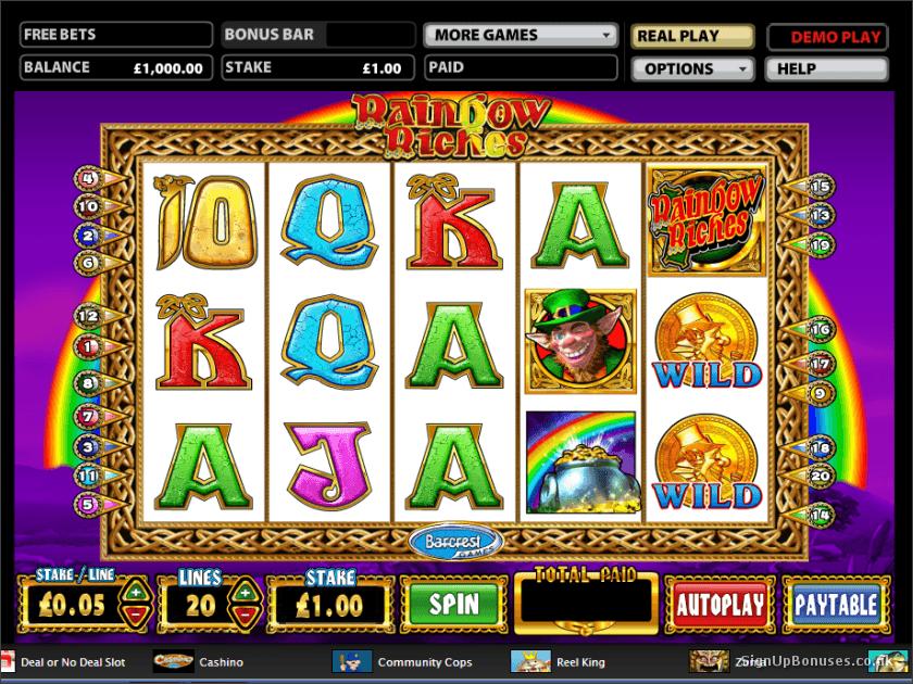 online casino signup bonus rainbow king