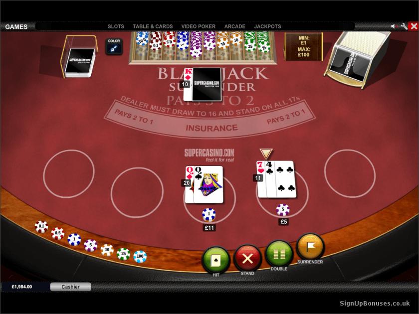 Blackjack gui