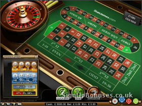 Screenshot Of The Roulette Gambling Interface
