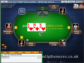 Poker Interface Screenshot